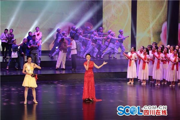 情景歌表演《十送红军》-达州纪念红军长征胜利80周年暨建国67周年