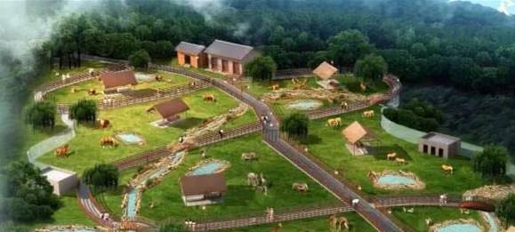 """""""金石云顶大型野生动物园""""建成后,将分为百兽幼儿园区,小型动物"""