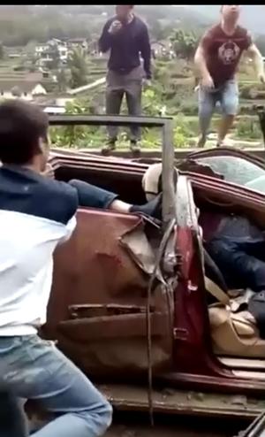 宣汉县土黄镇山体滑坡致2死3伤