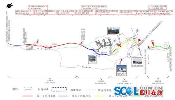 41公里.全线共设置大中桥6座,小桥1座,分离式隧道1座,涵洞及通道62道.